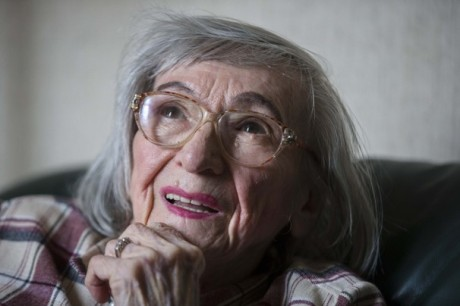 Hitler's food taster, Margot Woelk. Photo: Markus Schreiber, AP.